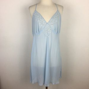 Cacique Light Blue Beaded Night Gown 14/16